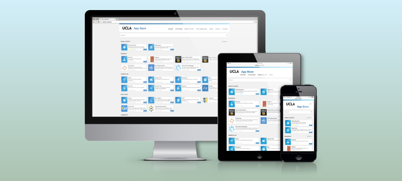 UCLA App Store and Responsive Design Dashboard