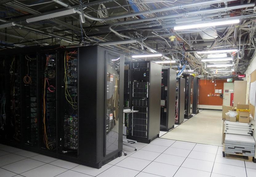 Shot of IDRE Data Center with machines