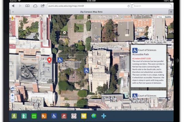 Photo of Zig web application on iPad